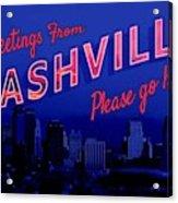Nashville Postcard Acrylic Print
