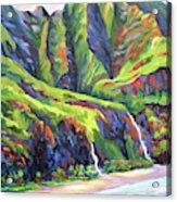 Natural Na Pali Coast In Kauai Acrylic Print
