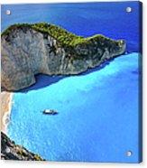 Navagio Beach, Zakynthos Island, Greece Acrylic Print