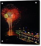 Navy Pier Fireworks Acrylic Print