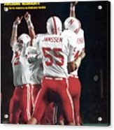 Nebraska Bob Terrio, 1972 Orange Bowl Sports Illustrated Cover Acrylic Print