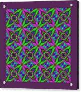 Neon Diamond Pattern Acrylic Print