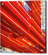 Neon Lights Downtown Las Vegas Acrylic Print
