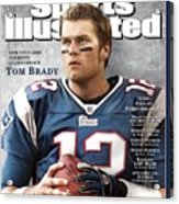 New England Patriots Qb Tom Brady, 2005 Sportsman Of The Sports Illustrated Cover Acrylic Print