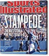 New England Patriots V Buffalo Bills Sports Illustrated Cover Acrylic Print