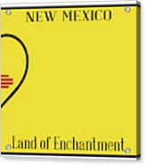 New Mexico State License Plateai Acrylic Print