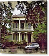 New Orleans Home In Watercolor Acrylic Print