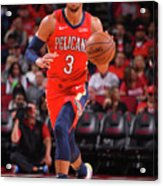 New Orleans Pelicans V Houston Rockets Acrylic Print