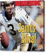 New Orleans Saints Qb Bobby Hebert... Sports Illustrated Cover Acrylic Print