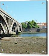 new road bridge across river Tweed at Berwick-upon-tweed Acrylic Print
