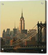 New York City Cityscape Sunrise Acrylic Print