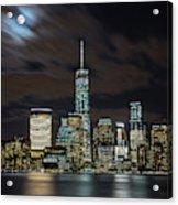 New York City Skyline At Night Acrylic Print