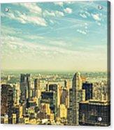 New York City Skyline With Central Park Acrylic Print