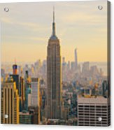 New York City Skyline With Urban Acrylic Print