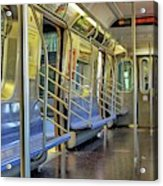 New York City Empty Subway Car Acrylic Print