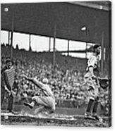New York Giants Baseball Player Sliding Acrylic Print