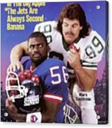 New York Giants Lawrence Taylor And New York Jets Mark Sports Illustrated Cover Acrylic Print