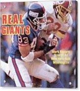 New York Giants Mark Bavaro... Sports Illustrated Cover Acrylic Print