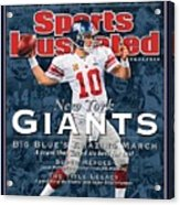 New York Giants Qb Eli Manning, Super Bowl Xlvi Champions Sports Illustrated Cover Acrylic Print