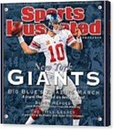 New York Giants Qb Eli Manning, Super Bowl Xlvi Champions Sports Illustrated Cover Acrylic Print