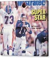 New York Giants Qb Phil Simms, Super Bowl Xxi Sports Illustrated Cover Acrylic Print
