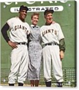 New York Giants Willie Mays, Loraine Day Durocher And Sports Illustrated Cover Acrylic Print