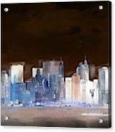 New York Skyline Illustration 1 Acrylic Print