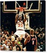 New York Knicks Patrick Ewing Does A Acrylic Print