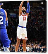 New York Knicks V Philadelphia 76ers Acrylic Print