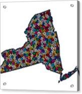 New York Map - 1 Acrylic Print