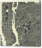 New York Map 3 Acrylic Print