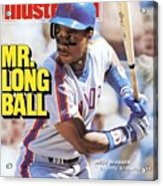 New York Mets Darryl Strawberry... Sports Illustrated Cover Acrylic Print
