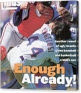 New York Mets John Cangelosi... Sports Illustrated Cover Acrylic Print