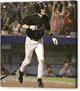 New York Mets Robin Ventura Connects Acrylic Print