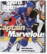 New York Rangers Mark Messier, 1994 Nhl Stanley Cup Finals Sports Illustrated Cover Acrylic Print