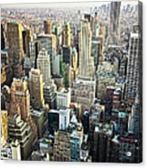 New York Skyline Summertime View Acrylic Print