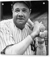 New York Yankee Babe Ruth Acrylic Print