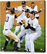 New York Yankees Celebrate 27th World Acrylic Print