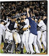 New York Yankees Celebrate After Acrylic Print