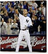 New York Yankees Derek Jeter Breaks Lou Acrylic Print