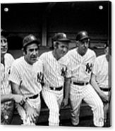 New York Yankees Hall Of Famers At Old Acrylic Print