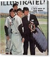 New York Yankees Manager Casey Stengal And Milwaukee Braves Sports Illustrated Cover Acrylic Print