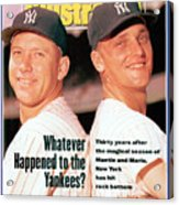 New York Yankees Mickey Mantle And Roger Maris Sports Illustrated Cover Acrylic Print