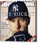 New York Yankees Roger Clemens Sports Illustrated Cover Acrylic Print