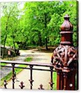 New York's Central Park Winterdale Arch Railing Cast Iron Art Acrylic Print