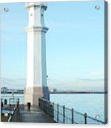 Newhaven Harbour Lighthouse Edinburgh Acrylic Print