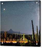 Night On Santiam Pass Acrylic Print