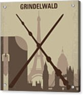 No1042 My The Crimes Of Grindelwald Minimal Movie Poster Acrylic Print