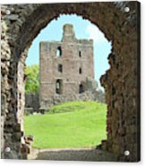 Norham Castle And Entrance Gate Acrylic Print
