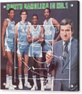 North Carolina Coach Dean Smith And Team Sports Illustrated Cover Acrylic Print
